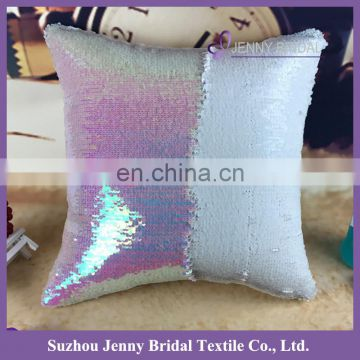 SQP022Q embroidered sequin fabric 3d car seat cushion cover embroidery design
