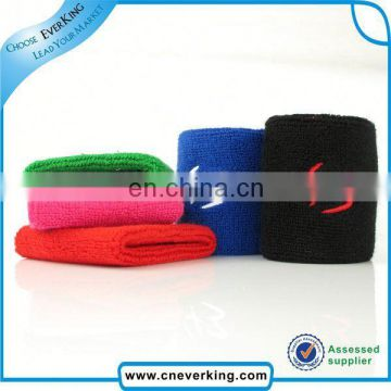 2015 New arrival custom cheap cotton wristband with zipper pocket