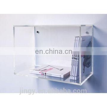 wall mounted clear plexiglass book holder lucite book shelf