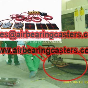 air bearing casters applications and specifications