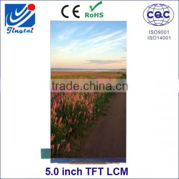 China low price 5 inch tft mobile phone lcd screen with HX8394F driver IC