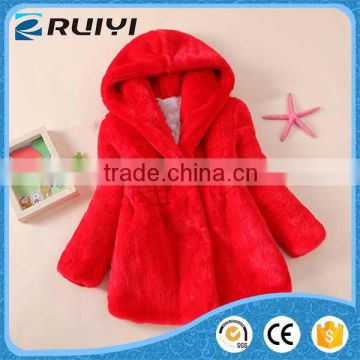 winter faux fur clothing girl faux fur coat with hood