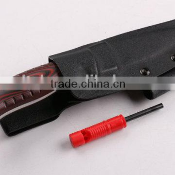 OEM Stainless Steel Handle Material and Hunting Knife Application survival knife with fire starter