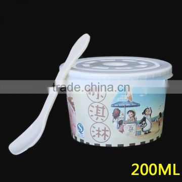 4oz Disposable paper ice cream cups