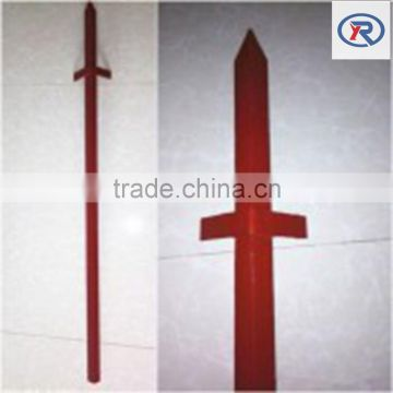 red painted angle metal Posts