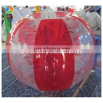 2016 colorful buddy bumper ball for adult inflatable human soccer bubble ball for football