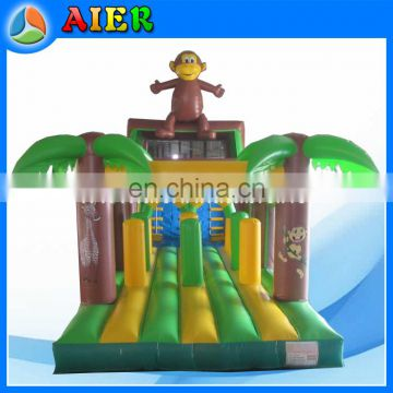 PVC material and Inflatable Obstacle Course Type Jungle Obstacle Run for event party playing