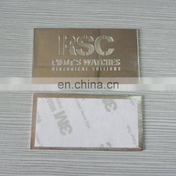 personalized engraved your logo metal plate for clothes and bag