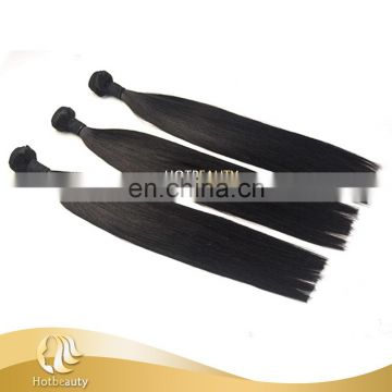 One Donor Shedding Free Cheap Black Hair Weft Hair Extensions Double Drawn Hair
