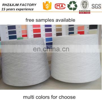 Ne 26/1 CVC Cotton/Polyester Blended Yarn 75%/25% for knitting