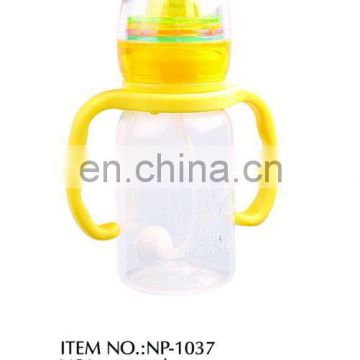 125ml pp automatic erect carven rattle bottle with handle