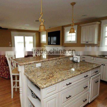 Kitchen santa cecilia granite countertops