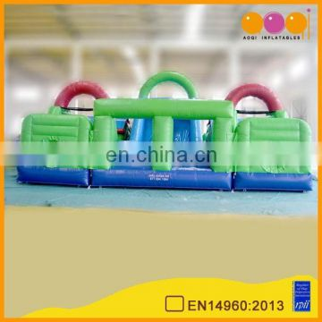 AOQI inflatable products inflatable slide bouncer obstacle jump sports trampoline for sale