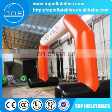 Customized round legs advertising Inflatable Arch with detachable printing