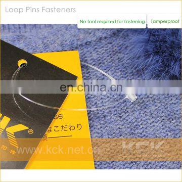 Hang tag plastic loop,Plastic loop pin