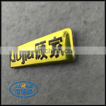 custom aluminum name badge with good sticker
