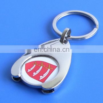 wholesale Canadian supermarket shopping cart wishbone trolley coin holder key chain