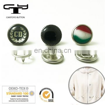10mm pearl prong snap button / Press spring metal pearl snap button for fur coat