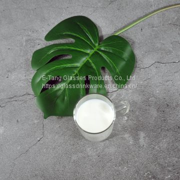 Wholesale OEM ODM Customized Free Sample China Reusable Glass Cup for Coffee And Tea
