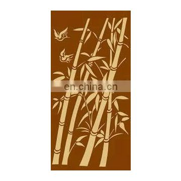 laser cut metal garden bamboo screen fence panel