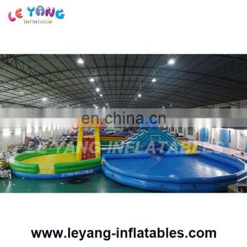 Giant Inflatable Aqua Park,Water Slide With swimming Pool , Water Park Games for land