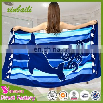 China factory wholesale microfiber custom children beach towel printed