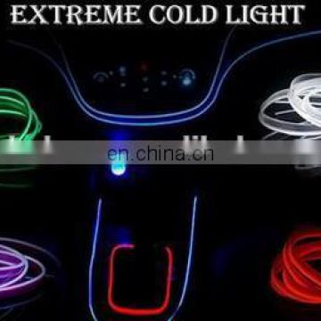 2018 Car EL Wire 10 Color selected 3M 2AA battery inverter decor Led thread sticker indoor decals accessory Flexible Neon Light