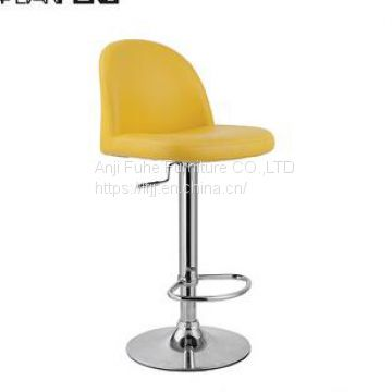 Anji furniture chair high bar chair bar stool pu seat