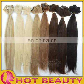 Fashion trend hot beauty indian remy hair clips in bangs