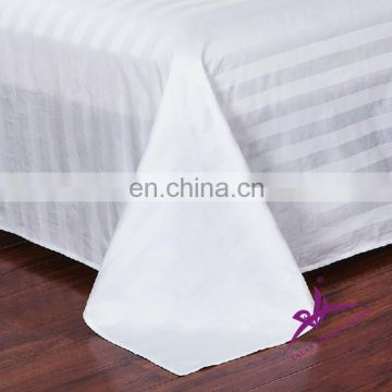100% cotton satin plain dyed bed flat sheet for hotel bediing