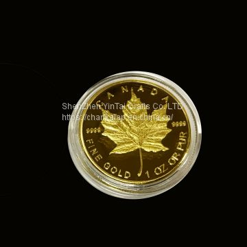 Canadian maple leaf coins from manufacturer in ShenZhen,China