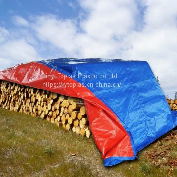 Wooden covers/firewood covers 100% waterproof double-side Tarpaulin sheet HDPE woven&LDPE laminated fabrics any size available blue color
