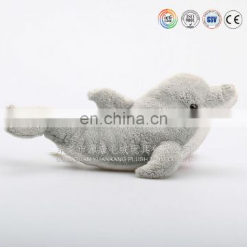 Hot sale pink stuffed toy dolphin for promotion with embroidered logo