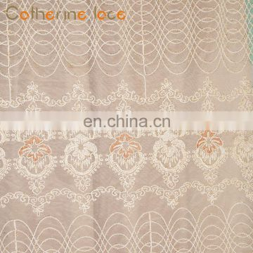 Catherine New Arrival Living Room Embroidery Window Curtain Lace Fabric For China