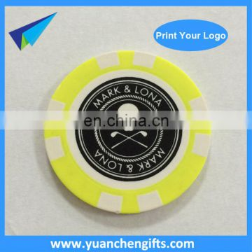 CASINO POKER CHIPS CUSTOM PRINTING GOLF BALL MARKERS