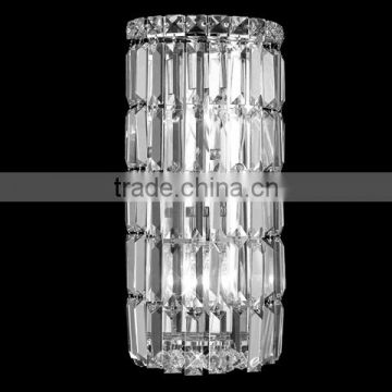 Easy to buy plug in corner crystal wall light