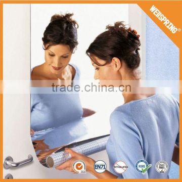 Personalized removable room decor adhesive mirror stickers