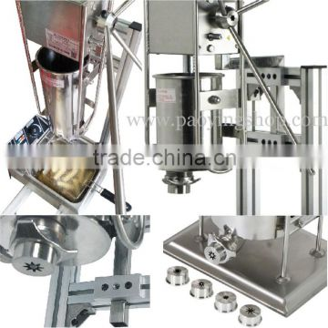 (3 in 1) Commercial Use 3L Spanish Manual Churros Machine + Working Stand + 6L LPG Gas Deep Fryer