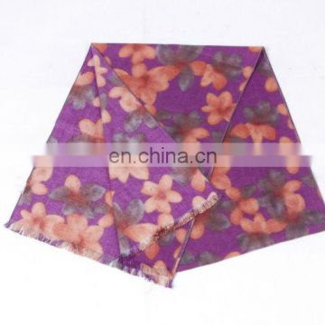 New and Fashion Flower Printed Winter Scarf