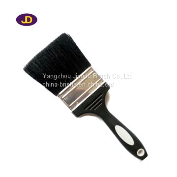 bristle paint brush with plastic handle