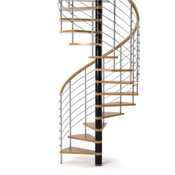 Modern stainless steel glass Spiral Staircase with Stainless Steel Balustrade