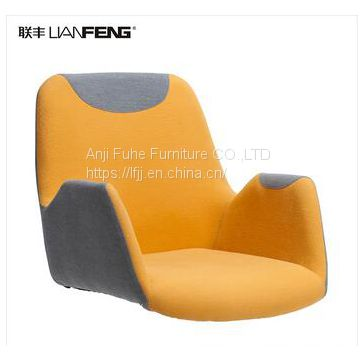 home furniture leisure chair with metal home stool