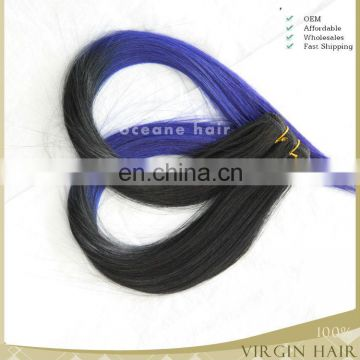 Grade7A clored two tone ombre hair weaves, brazilian remy 100% human hair