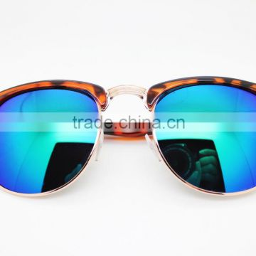 custom your own sunglasses metal sunglasses greeen mirro sunglasses