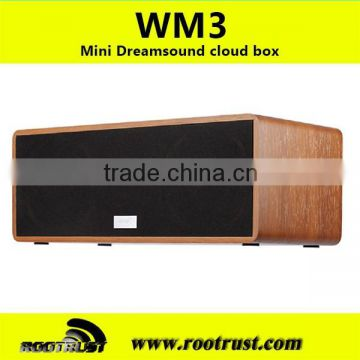 Wooden HiFi smart wifi speaker support DLNA, Airplay,MiMO,300M wifi for music pushing via APP