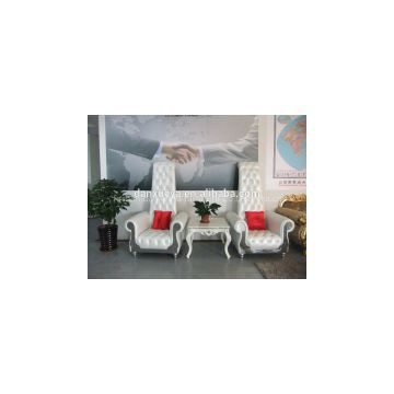 Luxury white high back king throne pedicure chair