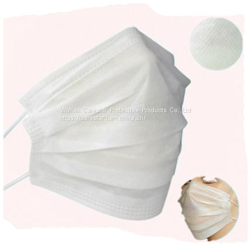 Disposable face mask premium soft Earloop 3-Ply Hypoallergenic Medical Surgical white mask