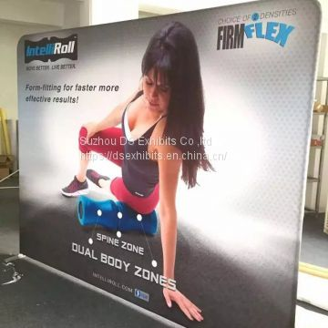Tension fabric pop up display straigh style