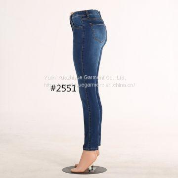 0d6f4cd486a87 ... new design ladies high waist jeans woman top design de blue slim denim  jeans pants wholesale