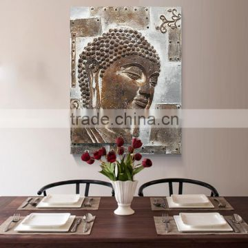 Solemn Religion Buddhism Painting Resin Relief Buddha